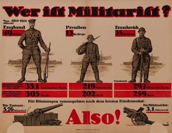Wer ist Militarist?<br>German WWI Poster