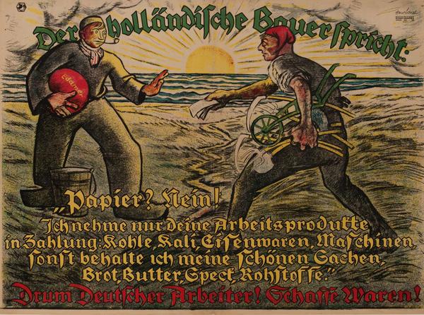 Der Holländishe Bauerspricht - The Dutch farmer speaks<br>German post-WWI Poster