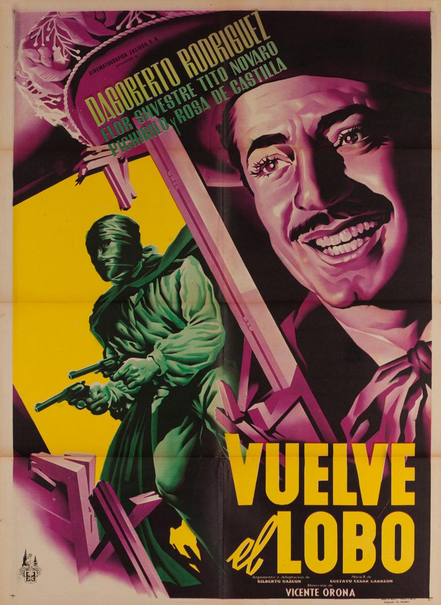Vuelve el Lobo, Mexican One Sheet Movie Poster