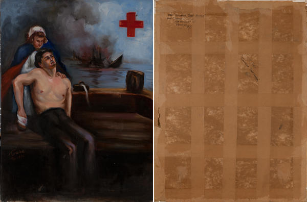 Remember Pearl Harbor, Original Red Cross Poster Maquette