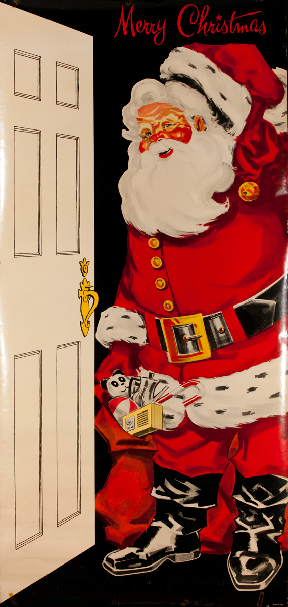 Merry Christmas Santa Door Poster