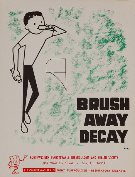 Brush Away Decay<br>American Health Poster