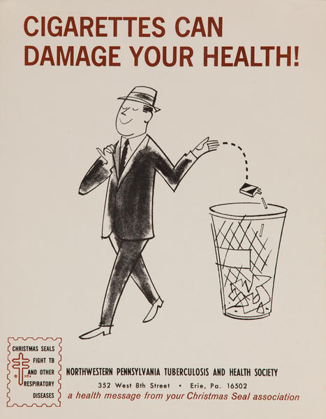 Cigatettes can damage your health!<br>American Health Poster