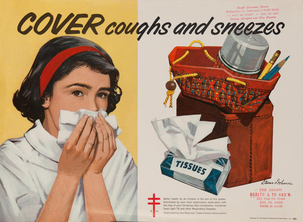 Cover coughs and sneezes<br>American Health Poster