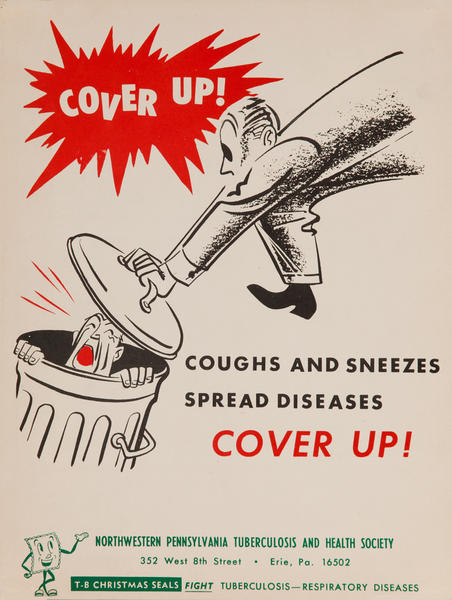 Cover Up! Coughs and Sneezes Spread Disease<br>American Health Poster