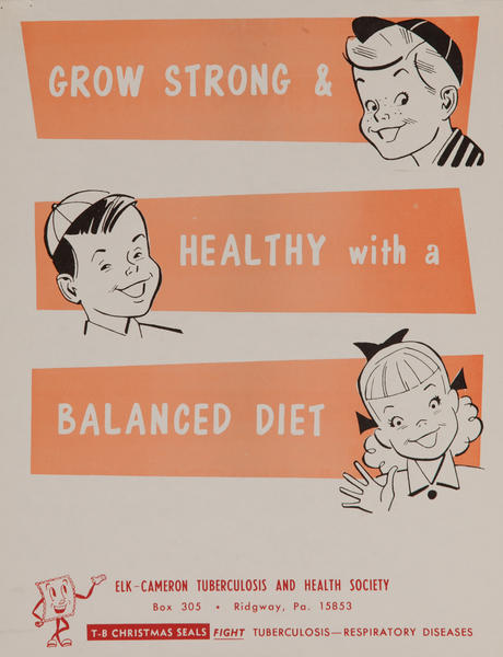 Grow Strong & Heathy with a Balanced Diet<br>American Health Poster