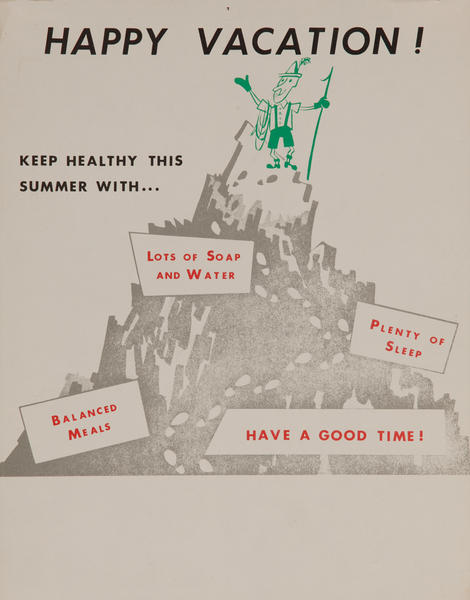 Happy Vacation, Keep Healthy This Summer<br>American Health Poster