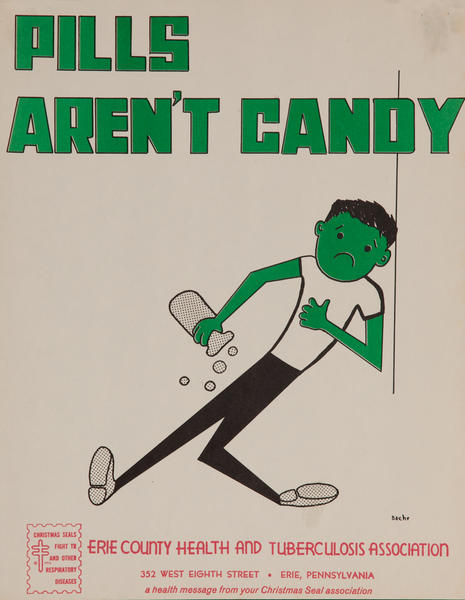 Pills Aren't Candy<br>American Health Poster