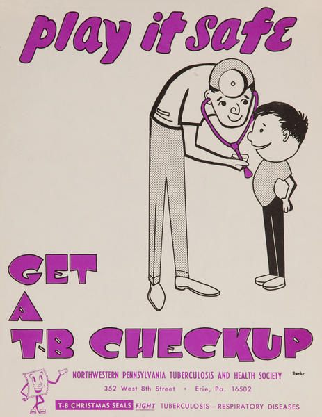 play it safe Get a Checkup<br>American Health Poster