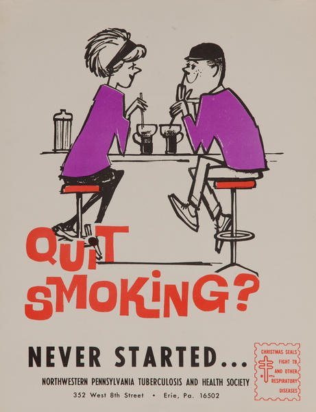 Quit Smoking? Never Started - Kids<br>American Health Poster