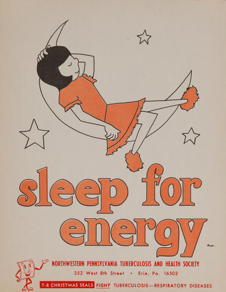 sleep for energy<br>American Health Poster