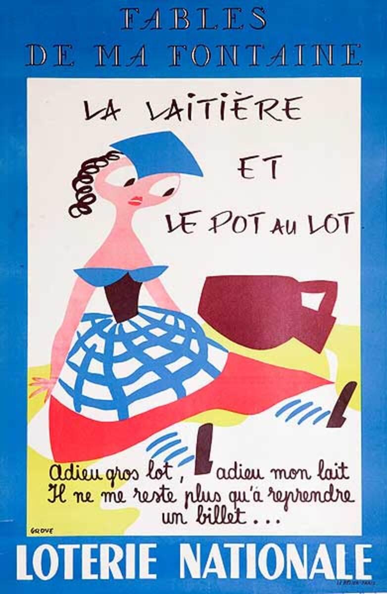 Goodbye Grand Prize, Goodbye My Milk Original French Loterie Poster