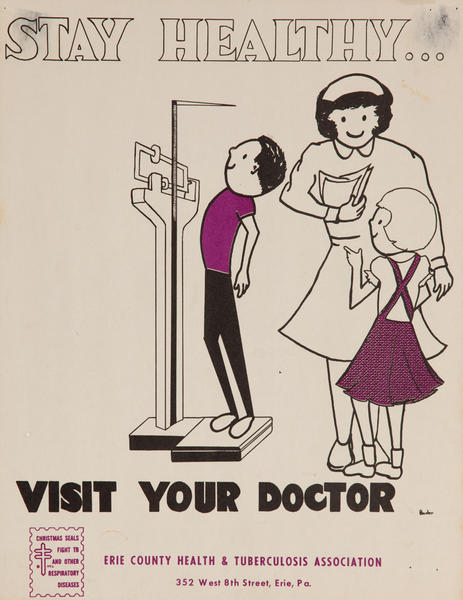 Stay Healthy Visit Your Doctor<br>American Health Poster