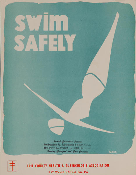 Swim Safely<br>American Health Poster