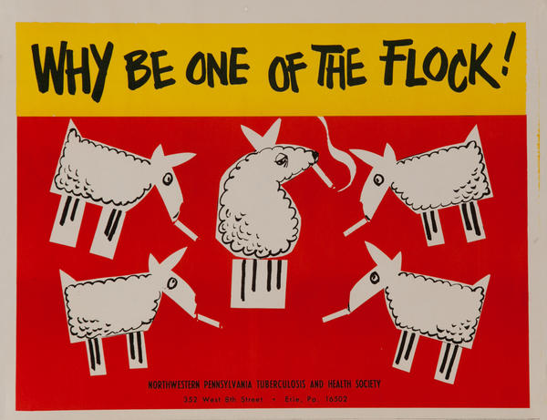 Why Be on of the Flock<br>American anti-Smoking Health Poster
