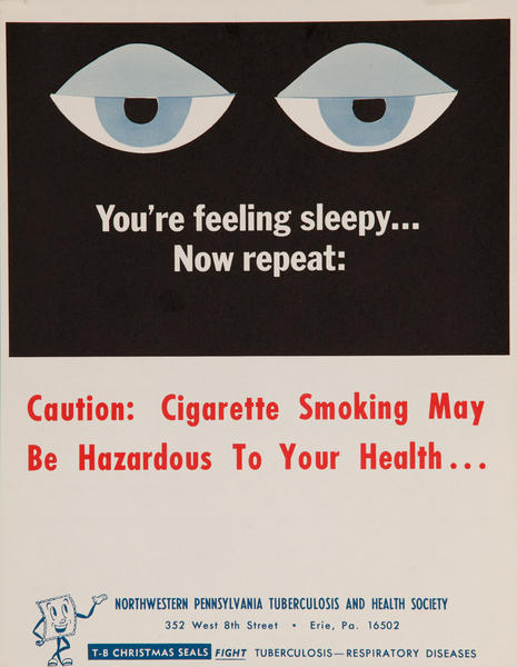 Caution : Cigarettes Smoking May Be Hazardous To Yout Health..<br>American Health Poster