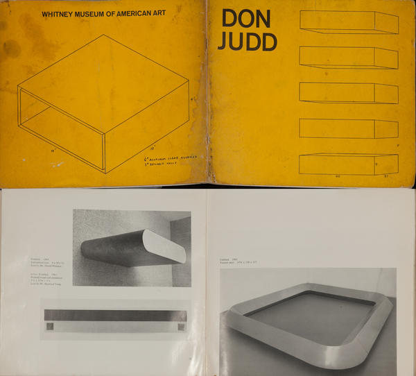 Don Judd Exhibit Catalog<br>Whitney Museum of American Art