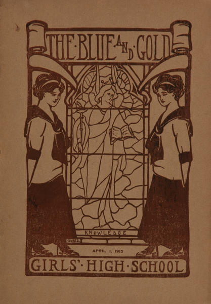 The Blue and Gold, Girls High School Student Magazine, April 1, 1915
