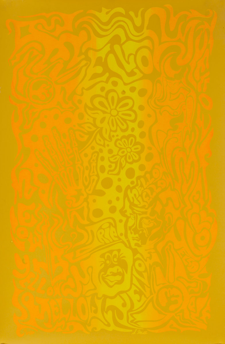 Mellow Yellow Psychedelic Poster