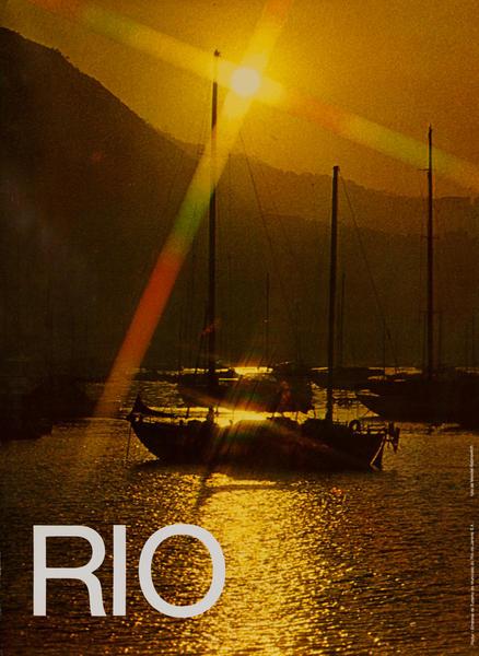Sailboats<br>Rio Brazil Travel Poster