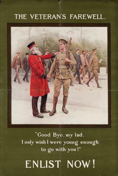 The Veteran's Farewell<br>British WWI Poster