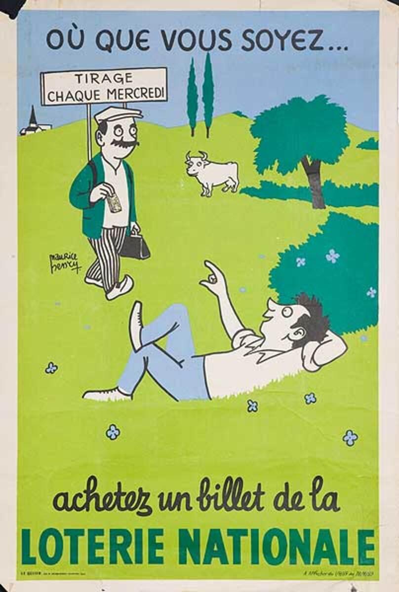 Ou Que Vous Soyez Original French Loterie Poster