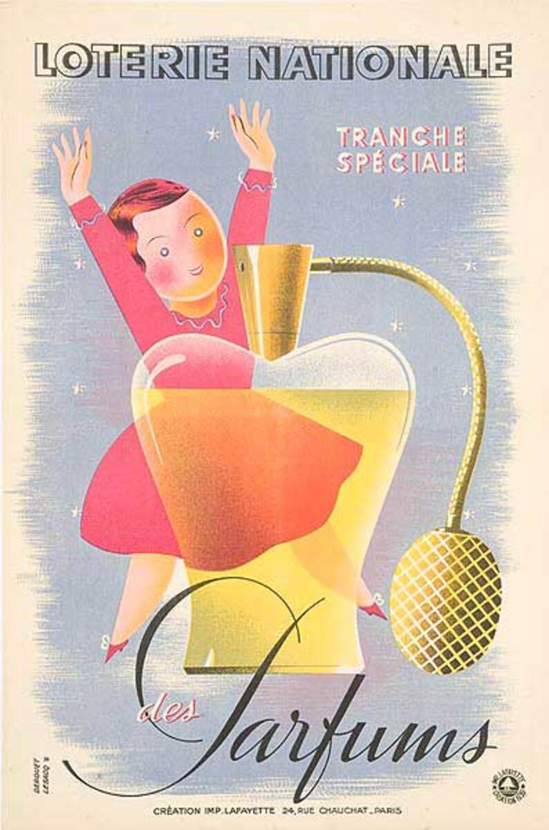 Loterie Nationale Parfums Original French Poster