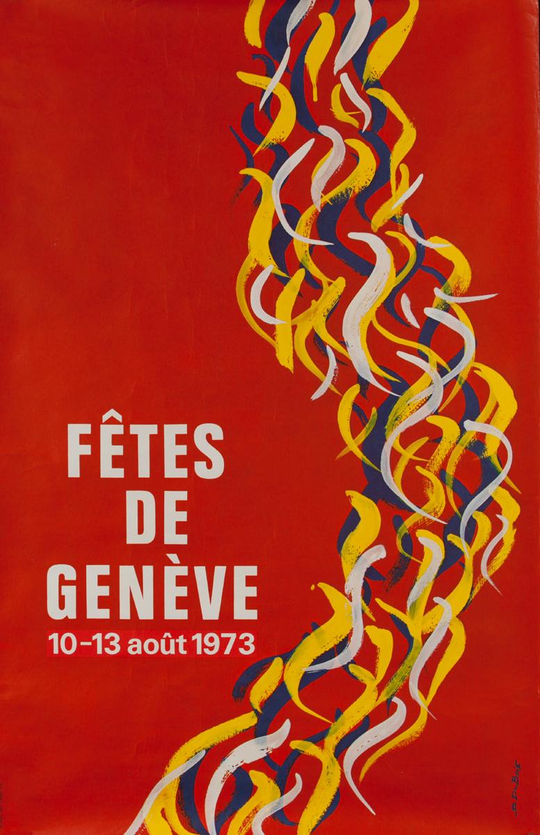 Fêtes de Genève 1973<br>Swiss Travel Poster