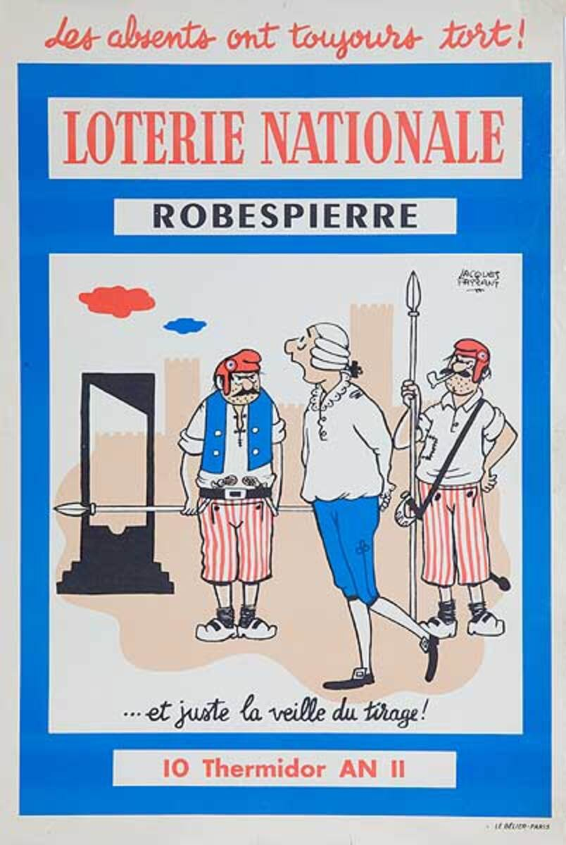 Robespierre Original French Loterie Poster