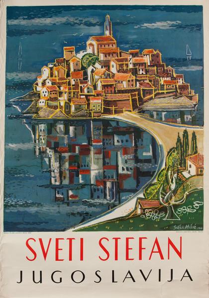 Sveti Stefan Jogoslavija<br>Yugoslavia Travel Poster