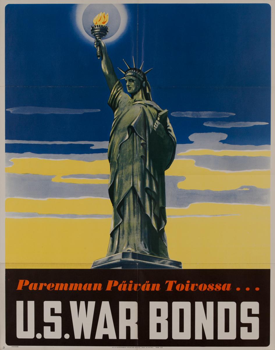 Paremman Päivän Toirossa (For a Better Tomorrow)<br>U.S. War Bonds Poster