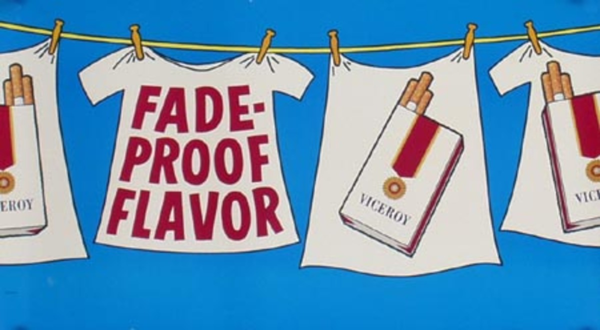 Viceroy Cigarette Original Advertising Poster Fade Proof Flavor