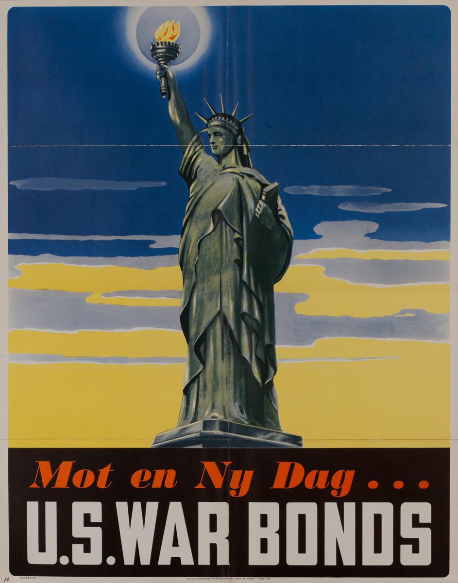 Mot en Ny Dag (For a Better Tomorrow)<br>U.S. War Bonds Poster