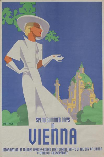 Spend Summer Days in Vienna<br> Austria Travel Poster
