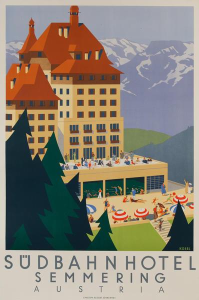 Sudbahn Hotel, Semmering Austria<br>Travel Poster