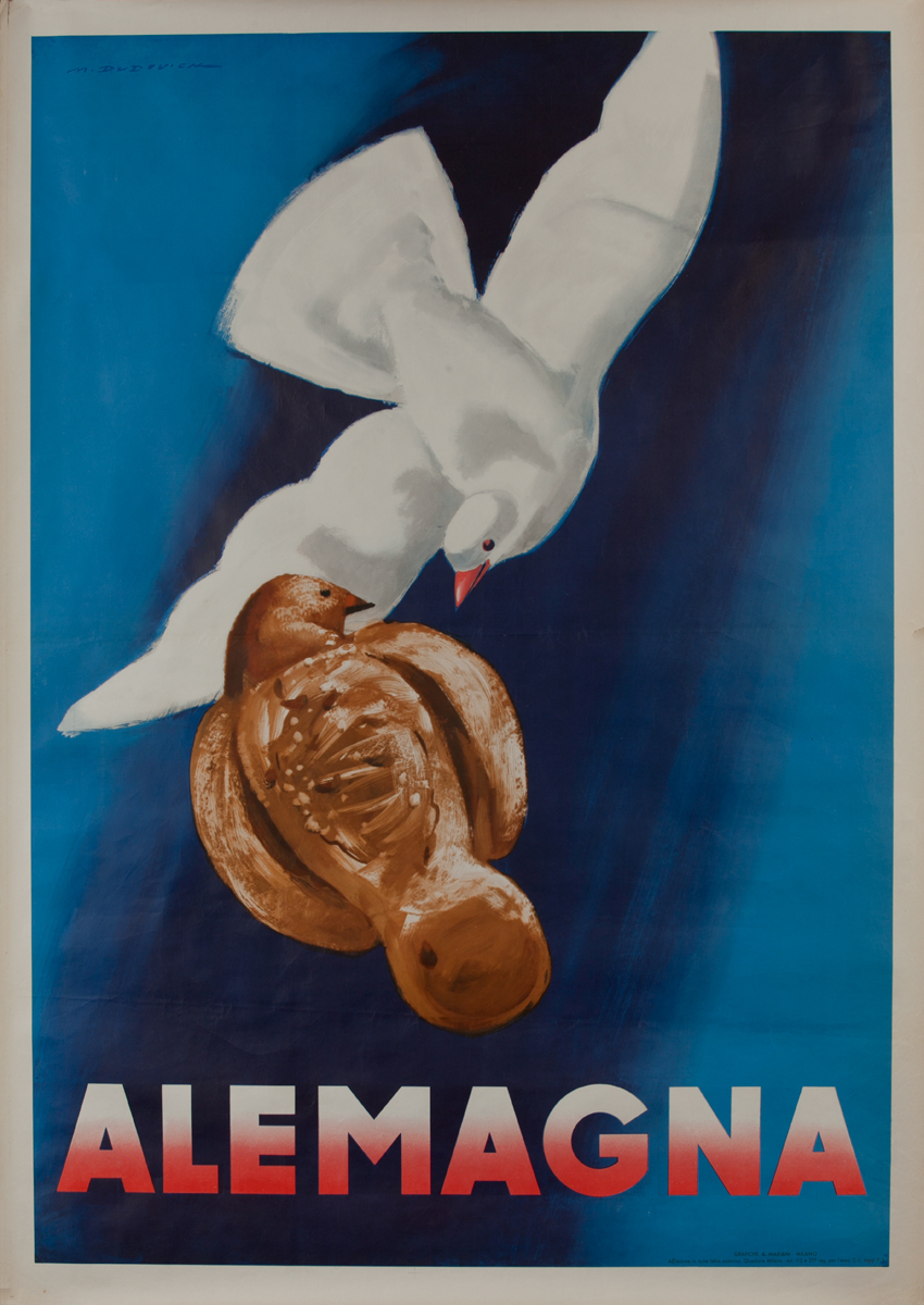 Alemagna Candy Italian Poster