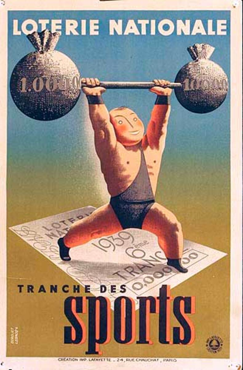 Loterie National Sports Original French Poster