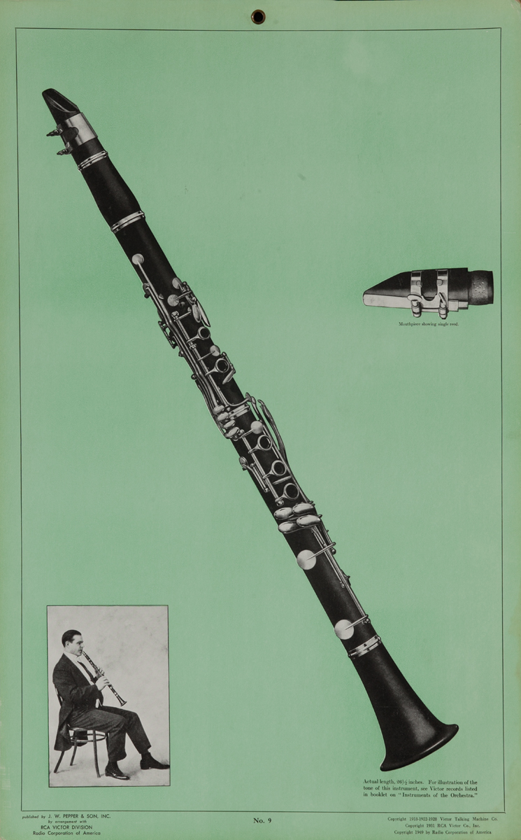Victor Talking Machine Company No 9 Clarinet<br>Advertising Poster