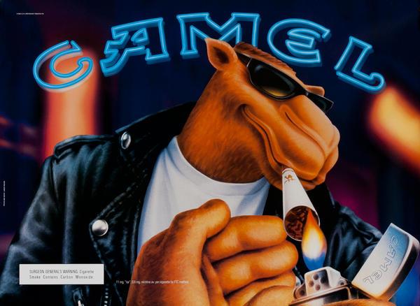 Camel Cigarette Poster<br>Joe Camel with Lighter