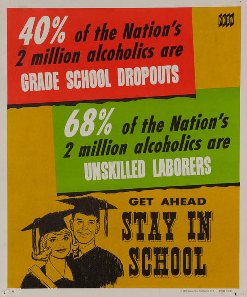 KNOW Stay in School <br>Anti-alcohol health poster.