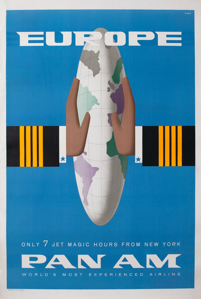 Europe Pan Am, Only 7 Jet Magic Hours from New York
