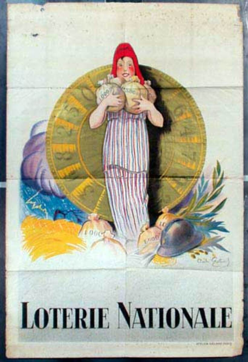 French Loterie Nationale Vintage Poster large sized Coin