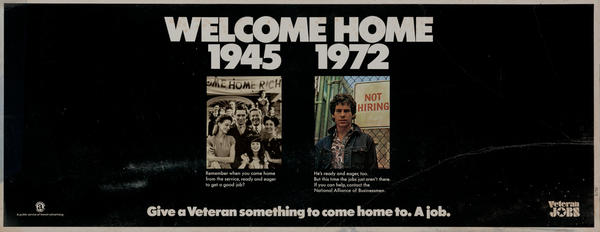 Welcom Home - Give a Veteran something to come home to. A Job