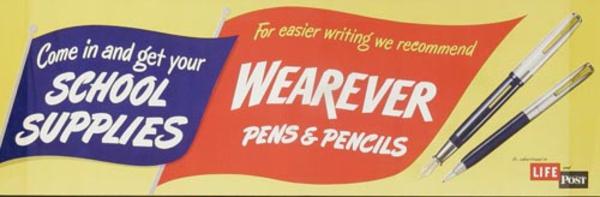 Wearever Pens Original Advertising Poster