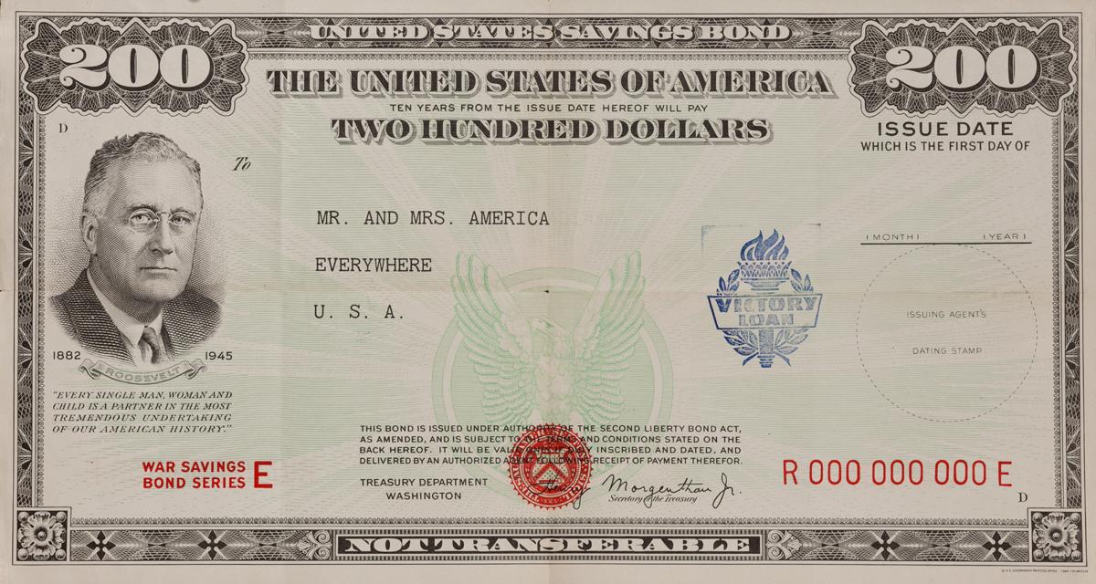 War Savings Bond Series E, WWII Poster