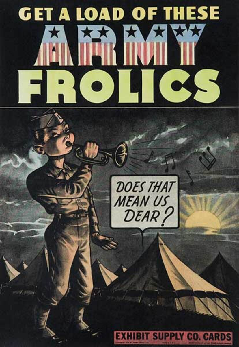 Army Frolics Original Carnival Display Poster