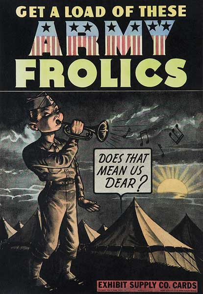 Army Frolics Original Carnival Display Poster