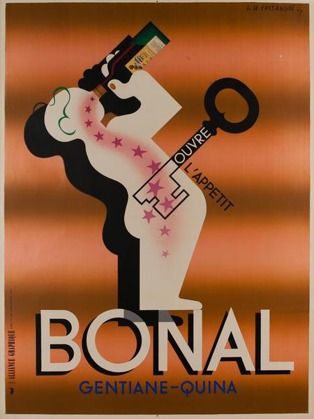 Bonal A. M. Cassandre Advertising Poster, tan background