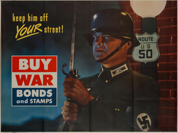 Keep Him Off Your Street<br>Original Kroger WWII Bond Poster