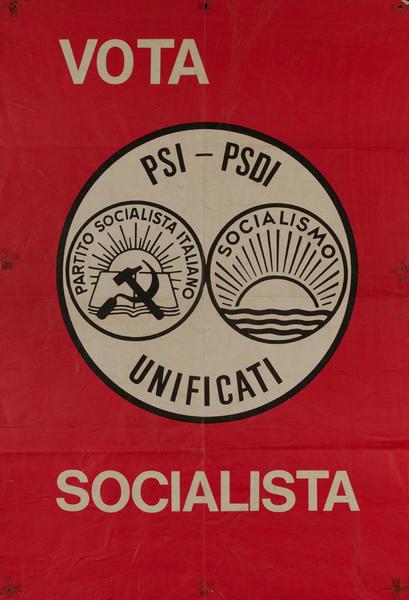 Vota Socialista Italian Political Poster